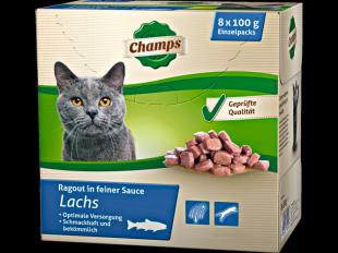 Katzenfutter Lachs, 8x100 g