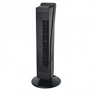 Säulenventilator, schwarz