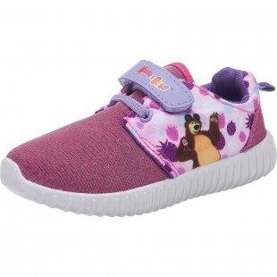 MASCHA UND DER BÄR Kinder Sneakers lila Mädchen Gr. 25
