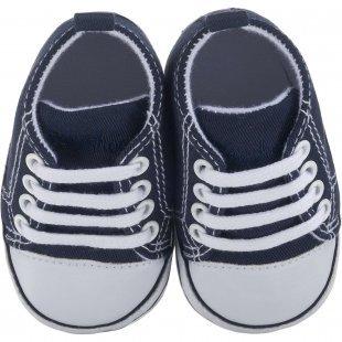 Playshoes Baby Krabbelschuhe dunkelblau Junge Gr. 17