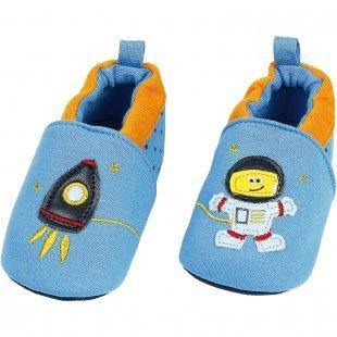 MaxiMo Krabbelschuhe Astronaut blau Junge Gr. 18
