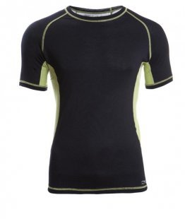 ENGEL SPORTS Shirt kurzarm Men black/lime S