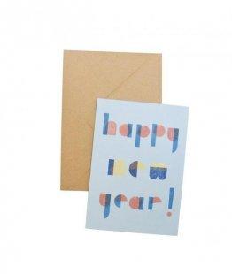 MOZAÏQ A6 Klappkarte happy new year
