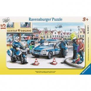 Ravensburger - Rahmenpuzzle: Einsatz der Polizei, 15 Teile