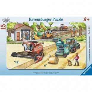 Ravensburger - Rahmenpuzzle: Maschinen auf dem Feld, 15 Teile