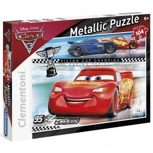 Clementoni - Metallic Puzzle: Disney Cars, 104 Teile