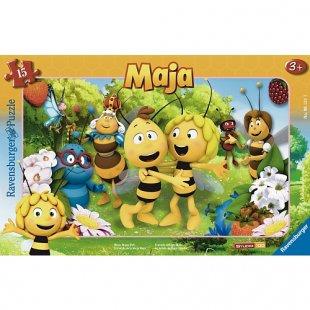 Ravensburger - Rahmenpuzzle: Biene Majas Welt, 15 Teile