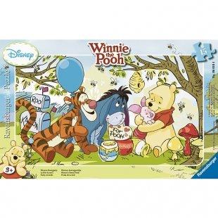 Ravensburger - Rahmenpuzzle: Winnie Puuh - Honigparty, 15 Teile