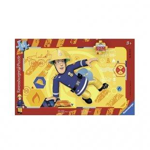 Ravensburger - Rahmenpuzzle: Feuerwehrmann Sam, Sam in Aktion, 15 Teile