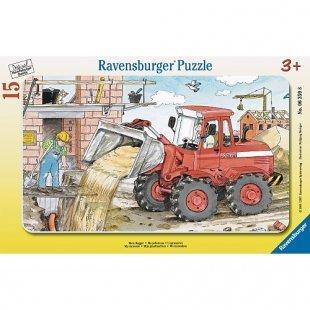 Ravensburger - Rahmenpuzzle: Mein Bagger, 15 Teile