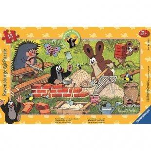 Ravensburger - Rahmenpuzzle: Der kleine Maulwurf und seine Freunde, 15 Teile