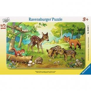 Ravensburger - Puzzle: Tierkinder des Waldes, 15 Teile