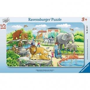 Ravensburger - Rahmenpuzzle: Ausflug in den Zoo, 15 Teile