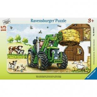Ravensburger - Puzzle: Traktor auf dem Bauernhof, 15 Teile