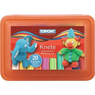 Stylex - Knete 20 Stangen in Kunststoffbox, farblich sortiert