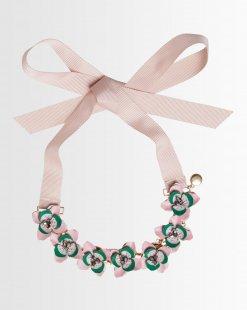 Statement-Halsband mit 3D-Blüten