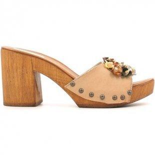 Grace Shoes Clogs 72100 Sandalen Frauen Beige