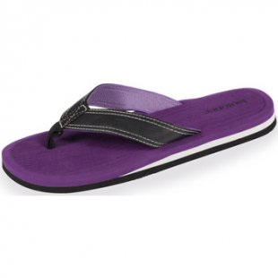 Isotoner Zehentrenner Flip-Flops Damen violett