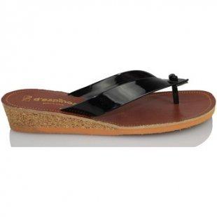 Despinosa Zehentrenner Slave Lackleder Sandale