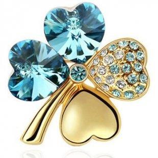 Blue Pearls Broschen Brosche mit blauen Swarovski Elements