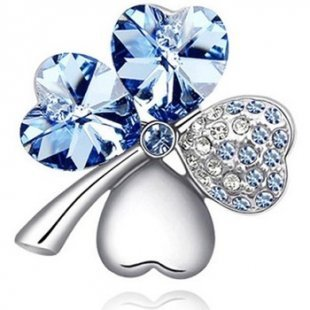 Blue Pearls Broschen Brosche mit blauen Kristall Swarovski Elements