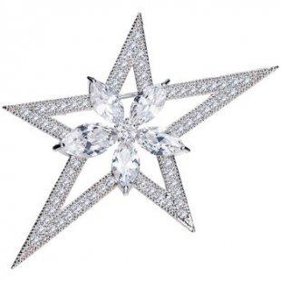 Blue Pearls Broschen Frau Brosche Stern Kristall Swarovski Element Cubic Zirconia Wei