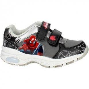 Spiderman Kinderschuhe SPI3841 Hoch Sneakers Boy Schwarz/Grau