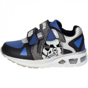 Disney Star Wars Kinderschuhe STW5080 Niedrige Sneakers Boy Blau/Schwarz
