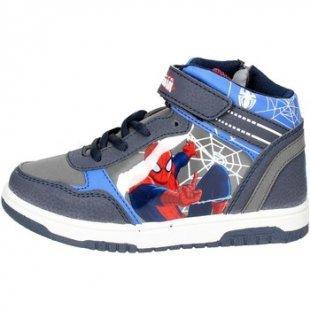 Spiderman Kinderschuhe SPI6444 Hoch Sneakers Boy Blau/Grau
