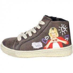 Disney Violetta Kinderschuhe VIO4013 Hoch Sneakers Mädchen Braun Taupe