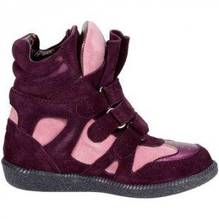 Balducci kinderschuhe ART. 64 Hoch Sneakers Boy Violett/Rosa