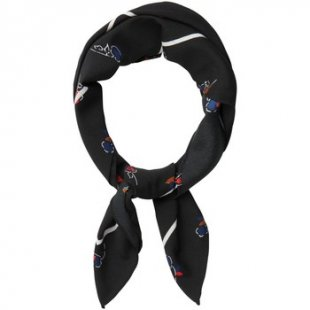 Pieces Schal PCILENA SQUARE SCARF Black