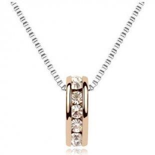 Blue Pearls Kette Ring und Halskette mit Swarovski Elements