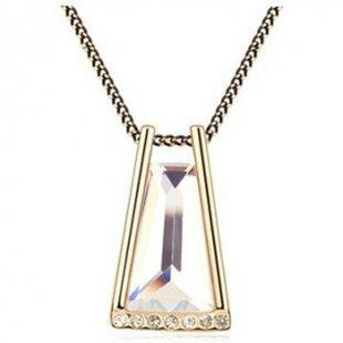 Blue Pearls Kette Halskette mit weißen Swarovski Elements
