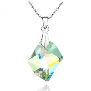 Blue Pearls Kette Halskette in Kristall Weiß Graun von Swarovski Elements
