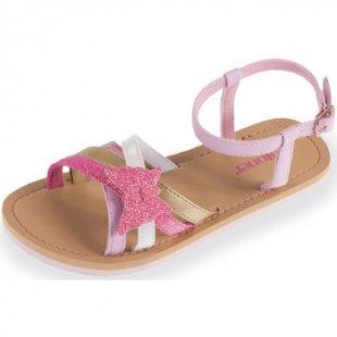 Isotoner Sandalen Mädchensandalen rosafarben mit Paillettenbesa