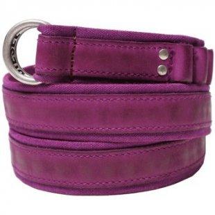 Diesel Gürtel - Baumwolle und Ledergürtel DNASBELT - Violett - Größe 90 cm