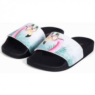 Thewhitebrand Pantoffeln Flamingo multi
