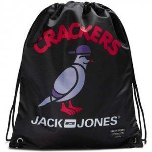 Jack Jones Rucksack 12120834 GYMBAG UMHÄNGETASCHE Herren BLACK