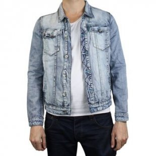 Kebello Herren-Jacke Jacke Jeans TD1201