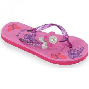 Isotoner Zehentrenner für Kinder Flip-Flops Mädchen mit bedruckter Sohle