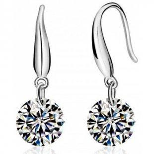 Blue Pearls Ohrringe Kristall-Ohrringe mit weißen Swarovski Elements