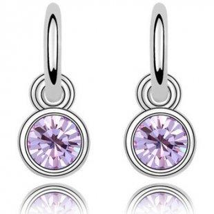 Blue Pearls Ohrringe Ohrringe baumeln Swarovski Element-Kristall-Lila