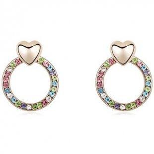 Blue Pearls Ohrringe Ohrringe mit mehrfarbigen Kristall Swarovski-Elements