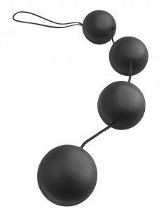 Anal Fantasy Deluxe Vibro Balls: Liebeskugeln, schwarz