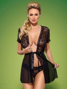 Obsessive Swanita: Kimono, schwarz