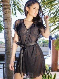 Coquette Kimono: Classy Style, schwarz