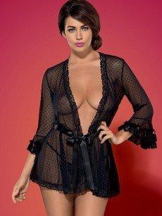 Obsessive Piccorosa: Kimono, schwarz