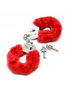 Plüsch-Handschellen, rot