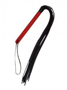 Lederpeitsche, rot/schwarz